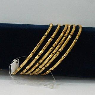 Golden Bangles 8 Set