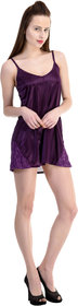Claura Dark purple Designer Baby Doll Nighty