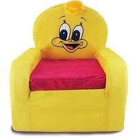 Tabby Toys Animal Theme Duck Kids Thermocol Sofa Foam Sofa (Finish Color - Yellow)