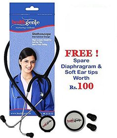 Healthgenie Dual Child Pediatric Stethoscope AL HG-206B (Black)