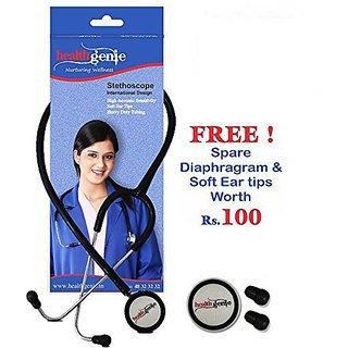 Healthgenie Dual Child Pediatric Stethoscope AL HG-206B (Black)