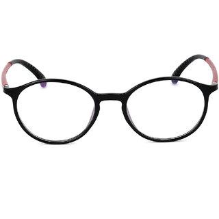 Royal Son Black Round Unisex Eye Glasses -RS04500ER