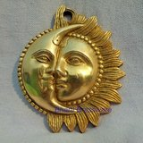 Lord Sun & Moon Wall Hanging Made By Brass BSMN107