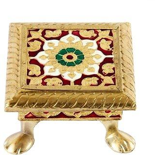 Golden Chowki / Seat 4 (Meenakari)