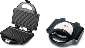 Lifelong Sandwich Maker (116 Griller Plate) Toast, Grill (Black, Stainless Steel)