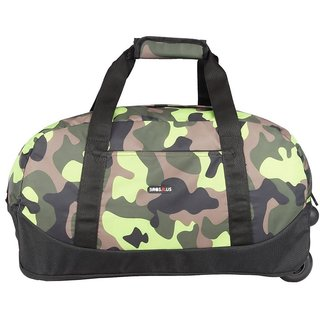 BagsRus Amaze Camo 56L Green Polyester Cabin Trolley Bag