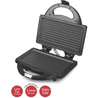 Lifelong Sandwich Maker (115 Griller Plate) Toast Grill (Black)