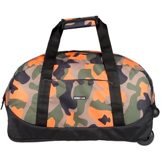 BagsRus Amaze Camo 56L Orange Polyester Cabin Trolley Bag