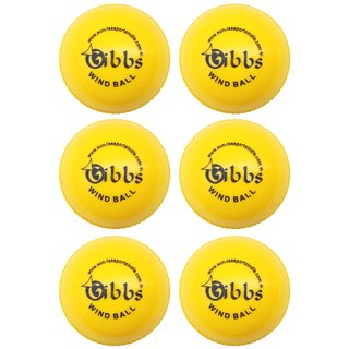 GIBBS Cricket WindBall Pack of 6 (6 Yellow)