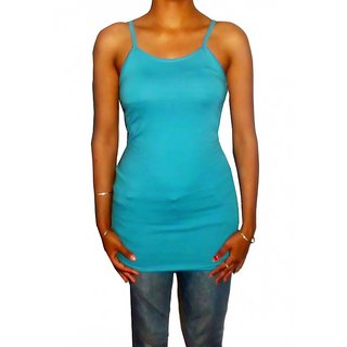 PREMIUM lONG SKY BLUE CAMISOLE FOR WOMENS