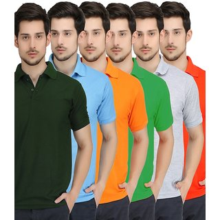 COMBO OF 6 POLO T-SHIRTS BY LIME FASHION