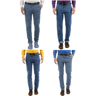 Western Texas 96 Combo of 4 Slim Fit Casual Wear Jeans