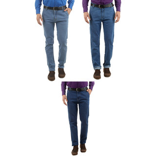 Western Texas 96 Combo of 3 Slim Fit Casual Wear Jeans