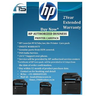HP Extended Warranty for HP LaserJet M425dn/nw/dw Printer Care Pack