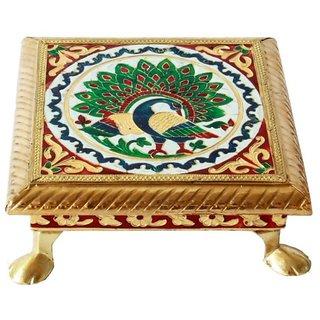 Golden Chowki / Seat 6 (Meenakari)