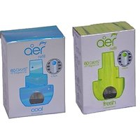 Godrej Aer Click Refill For Car - Cool Surf Blue (10 G) + Fresh Lush Green (10 G) Air Freshener (20 Ml)