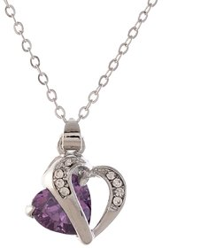 Ark Crystal Elegant Purple Heart Pendant