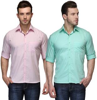 Nandini  Pack of 2 Men's Multicolor Regular Fit Casual Shirt