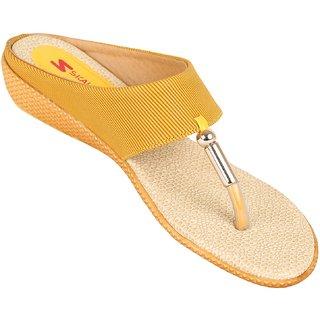 59d19c427c38 Buy VKC Women s Yellow Flats Online   ₹279 from ShopClues