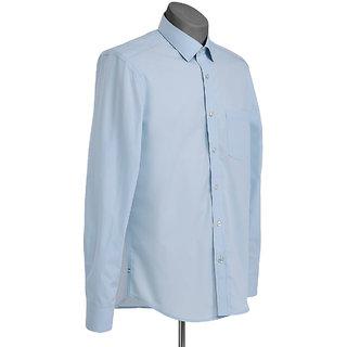 MuHeNeRa Semi Slim Fit Blue Checks Men's Shirt
