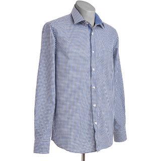 MuHeNeRa Trendy Regular Fit Light Blue Men's Shirt