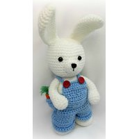 Hand-Made Crochet Boy Bunny