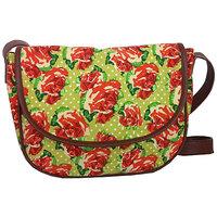 European Floral Print Sling  Bag COB-1631