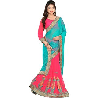Manvaa Faux Georgette Party Wear Saree
