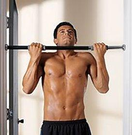 Fitness kart Black Pull Up Bar, Height Gym Bar, Door Gym Bar(Home Gym)