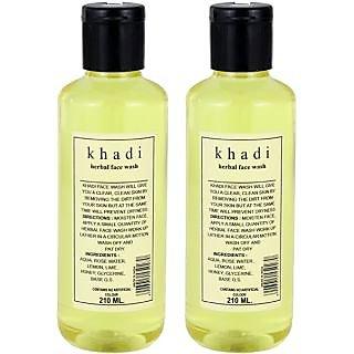 Khadi Herbal Face Wash (Twin Pack) (420 Ml)