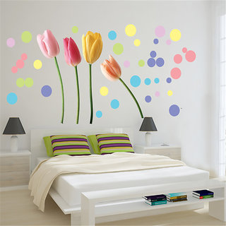 Oren Empower Lovely Roses Wall Stickers (Multicolor)