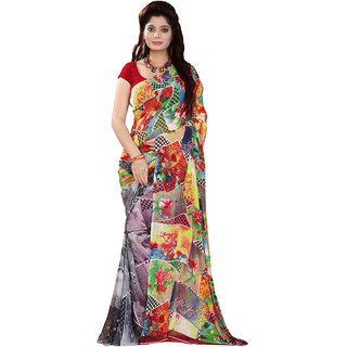 Lovely Look Multi Printed Saree LLKKHM2183