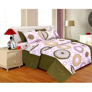 Salona Bichona Double Bedsheet with Two Pillow Covers DR-105A