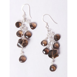 Add to Style Earing set with silver  Black cut beautiful droplets