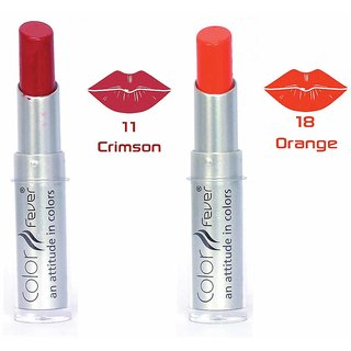 Color Fever Lip Bomb Crme Lipstick - Crimson / Orange