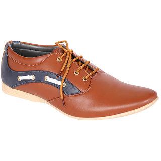 Louis Praiyo Brown Mens Casual Lace-Up Shoes