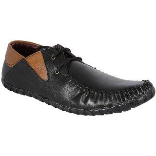 Louis Praiyo Black Mens Casual Lace-Up Shoes