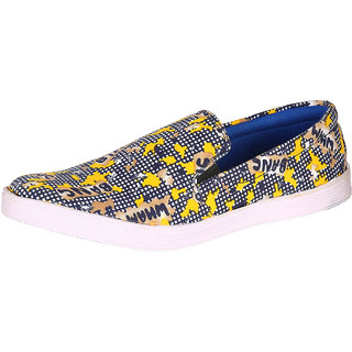 Louis Praiyo Yellow Mens Casual Slip-on Shoes