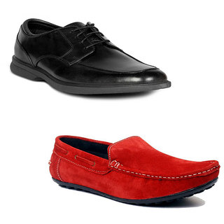 Kewl Instyle Men's Black & Red Lifestyle Casual Shoes