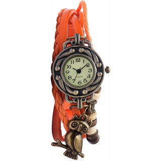 Diovanni Owl Always Loves You Orange color watch for womens