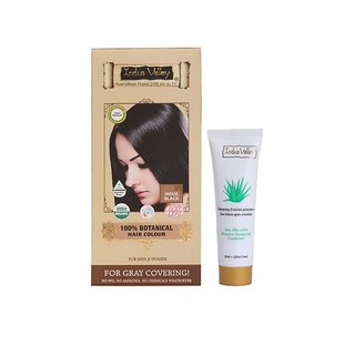 Buy Indus Valley 100 Botanical Organic Healthier Hair Colour Indus Black and get 50ml. Shampoo free