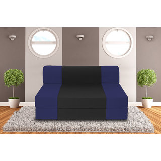Dolphin Zeal 2 Seater Sofa Bed-N.Blue Black- 4ft x 6ft