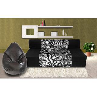 Buy Dolphin Zeal 3 Seater Sofa Bed Black Zebra Xxl Black