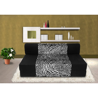 Dolphin Zeal 2 Seater Sofa Bed-Black Zebra- 4ft x 6ft
