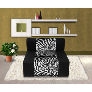 Dolphin Zeal 1 Seater Sofa Bed-Black Zebra- 2.5ft x 6ft