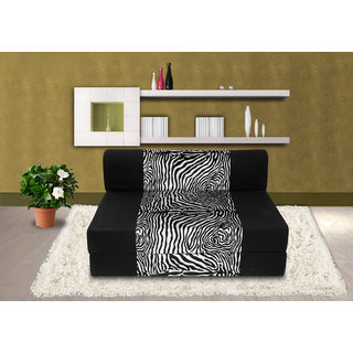 Dolphin Zeal Single Seater Sofa Bed-Black Zebra- 3ft x 6ft