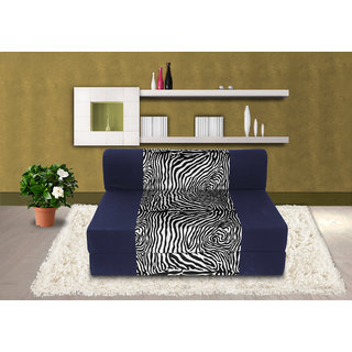 Dolphin Zeal Single Seater Sofa Bed-N.Blue Zebra- 3ft x 6ft