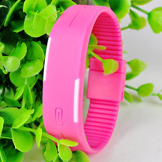 New Fashion Causal LED Watch For AllLED WatchBracelet pink dial