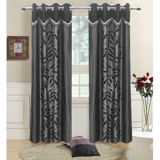 Buy Homefab India Set Of 2 Designer Kolaveri Grey Long