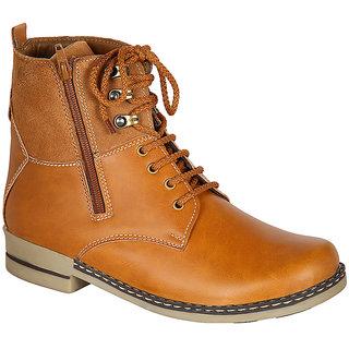 Louis Praiyo Tan Mens Casual Lace-Up Boots